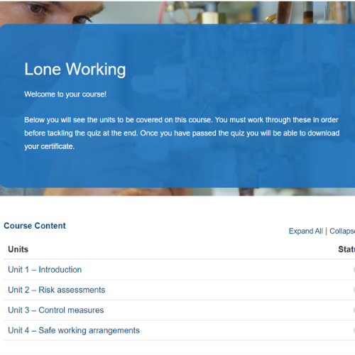Lone Working Course Overview