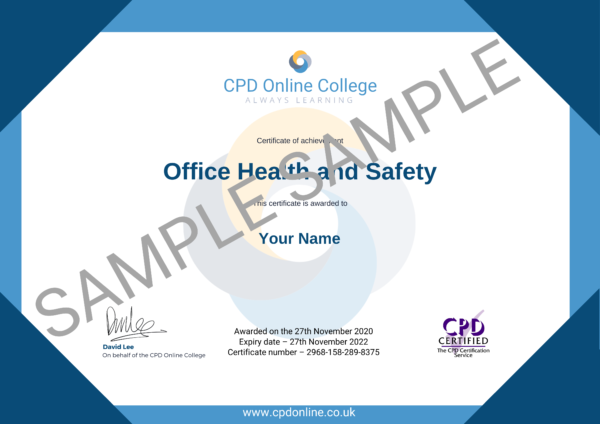 Office Health and Safety CPD Certificate