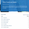 Office Health and Safety Course Overview