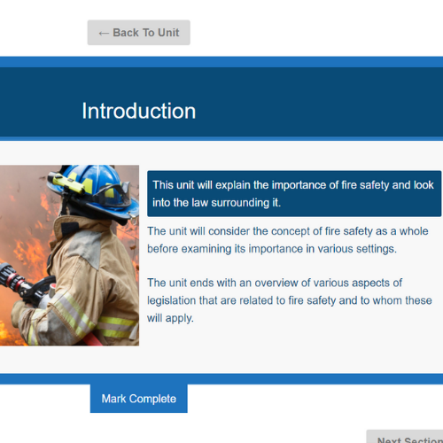 Fire Safety In School Unit Slide