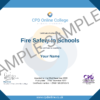 Fire Safety In Schools CPD Certificate