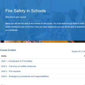Fire Safety In Schools Overview