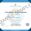 Fire Safety in Care Home CPD Certificate