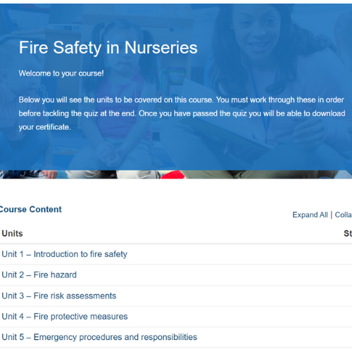 Fire Safety in Nurseries Course Overview
