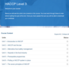HACCP Level 3 Overview