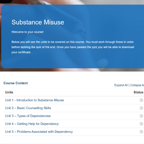Substance Misuse Course Overview