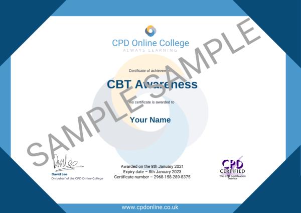 CBT Awareness CPD Certificate