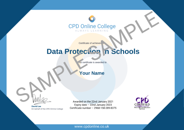 Data Protection in Schools CPD Certificate