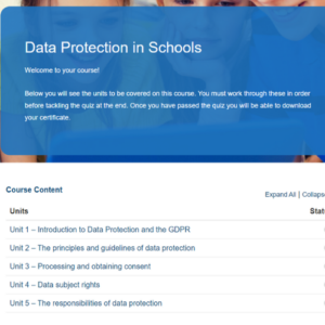 Data Protection in Schools Course Overview