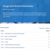 Drugs and Alcohol Awareness Course Overview