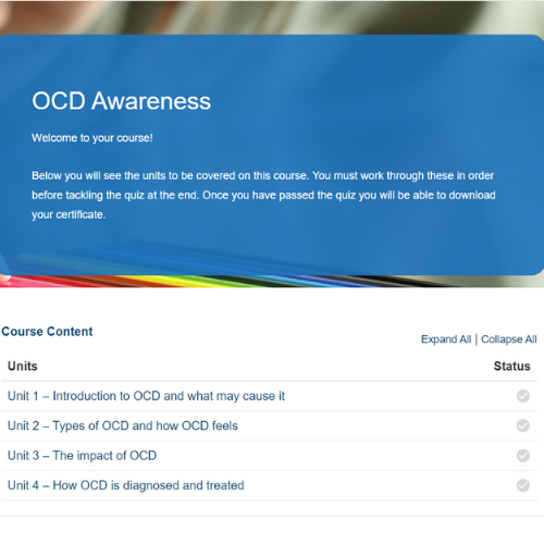 OCD Awareness Course Overview