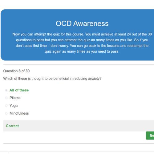 OCD Awareness Quiz Question