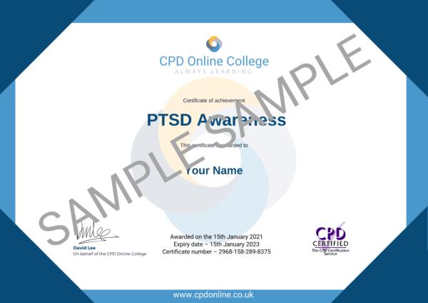 PTSD Awareness CPD Certificate