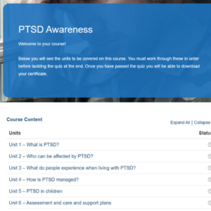 PTSD Awareness Course Overview