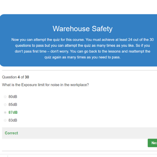 Warehouse Safety Quiz Question