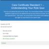 Care Certificate Quiz Questions