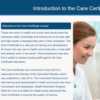 Care Certificate Unit 1 Slide