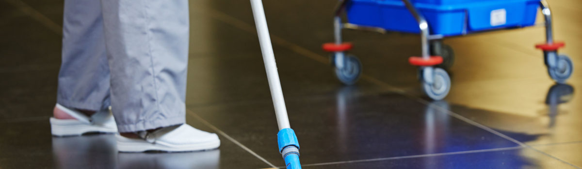 Cleaner working on zero-hour contract on her shift