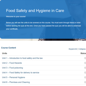Food Safety and Hygiene in Care Course Overview