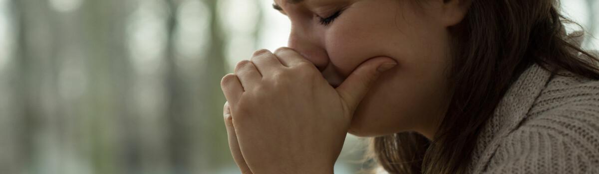 Upset Women After Misusing Substances
