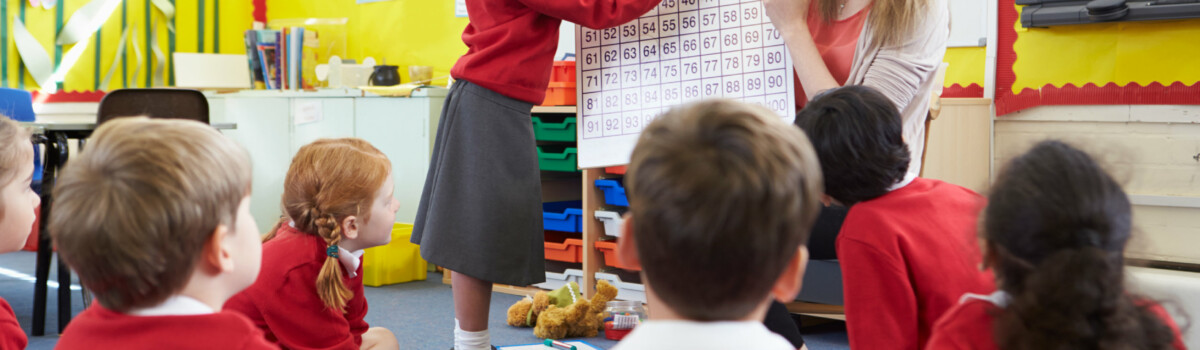 Teacher who is up to date with the Keeping Children Safe in Education 2021 updates in classroom