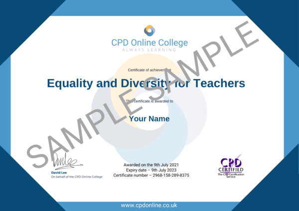 Equality and Diversity for Teachers CPD Certificate