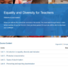 Equality and Diversity for Teachers Course Overview