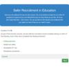 Safer Recruitment in Education Quiz