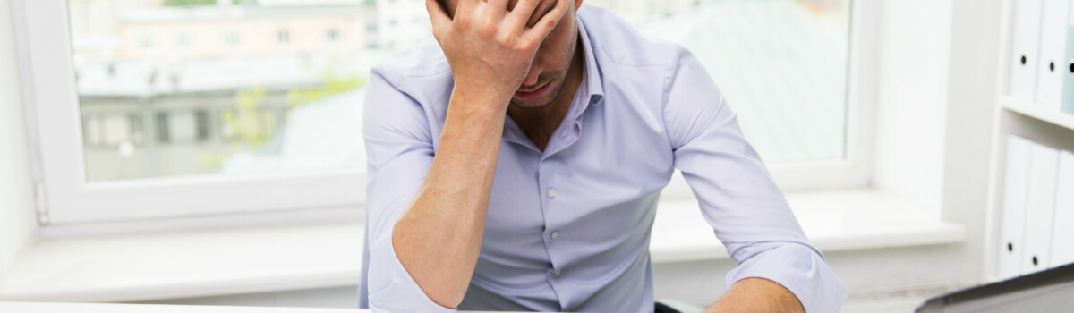 A man struggling with stress
