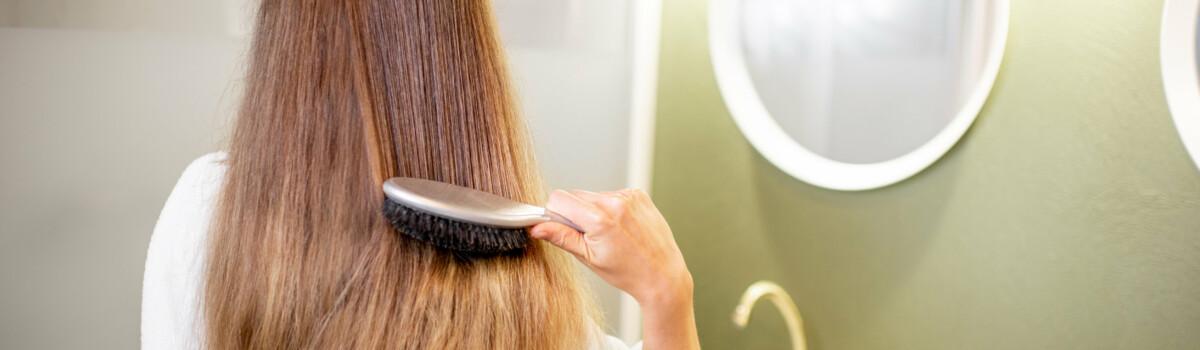 Brushing hair as a coping mechanism
