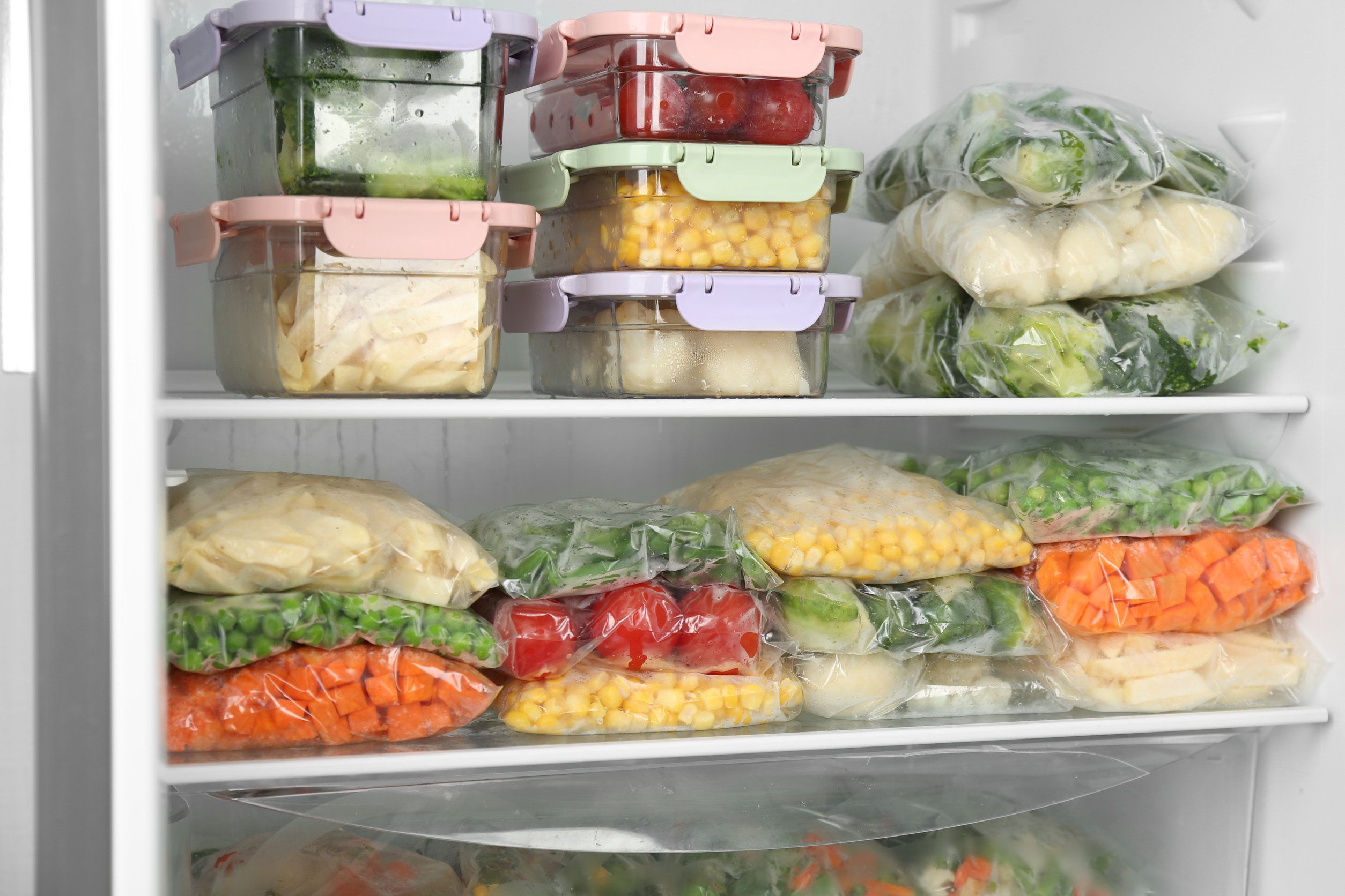 Keeping food in the freezer