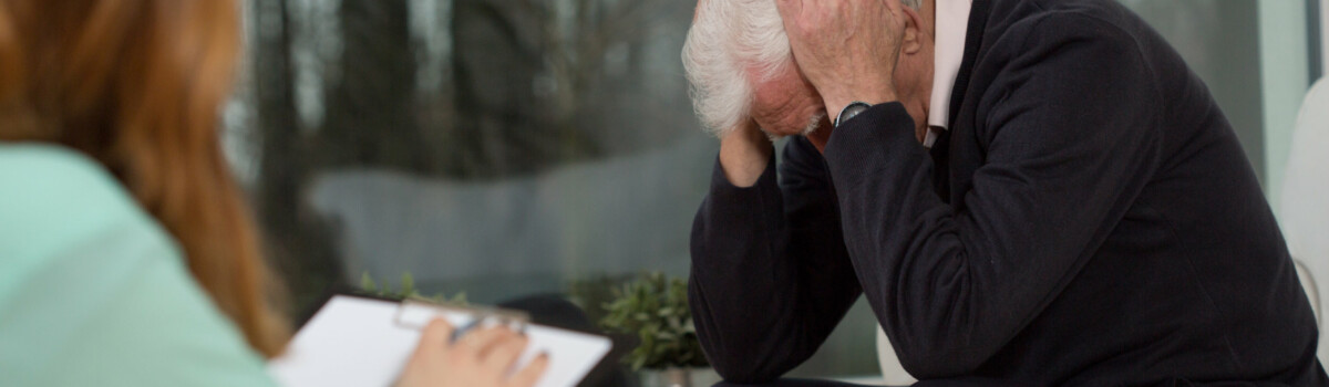 Man having a counselling session to help him