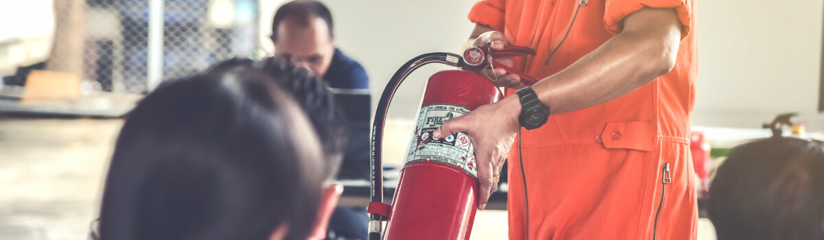People being shown emergency procedures that are written on the method statement