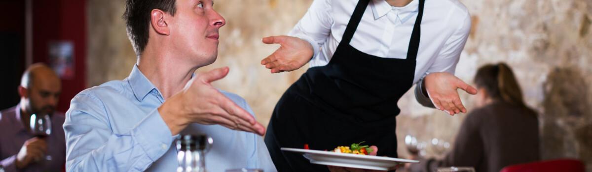 Restaurant receiving negative feedback