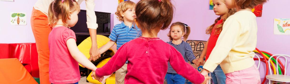Young children in nursery developing a sense of belonging